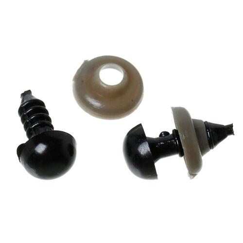 10x schwarze Teddyaugen Sicherheitsaugen Kunststoffaugen 8x14mm Schmuck Basteln