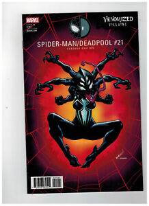SPIDER-MAN-DEADPOOL-21-Venomized-Villains-Variant-Cover-2017-Marvel-Comics