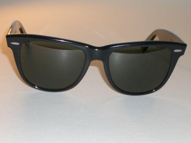 4af54ef5f6 Vintage Bausch   Lomb Ray-Ban L1724 VSAS G15 UV Black Wayfarer II 2  Sunglasses