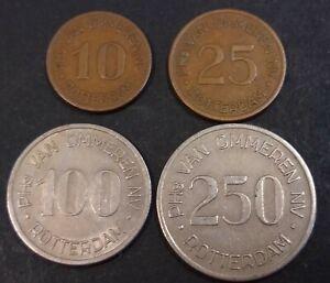 Boordgeld-Van-Ommeren-10-25-100-en-250-cent-Kooij-BS002-1-t-m-4-ship-money