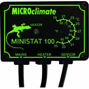 Microclimate Mini Stat 100w Thermostat Reptiles Snakes Heat Mat