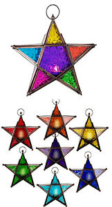 Glass-amp-Metal-Color-Therapy-Lanterns-5-Point-Star-chakra-colors-Mood-Lighting