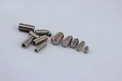 100pcs Metric Thread M3x3mm Stainless Steel Hex Socket Set Grub Screw Flat Head