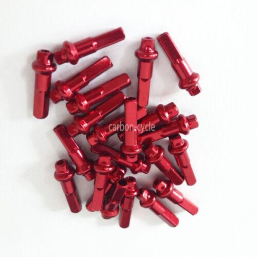 0.6g//pc 2.0 14mm Bicycle cnSPOKE Nipples ending Red AERO Aluminum 36pcs