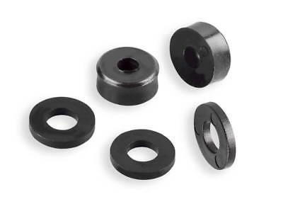 25 Distanzstücke//Unterlegscheiben Bohrung 6,3 oder 8,4 mm Kunststoff Schwarz