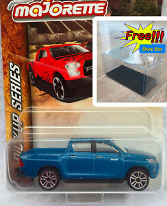 Majorette-Toyota-Hilux-Revo-Blue-Pick-Up-Diecast-Car-1-58-292K-Free-Show-Box