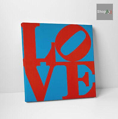 Robert Indiana Chosen Love Stampa su tela Canvas effetto Quadro Fine Arte