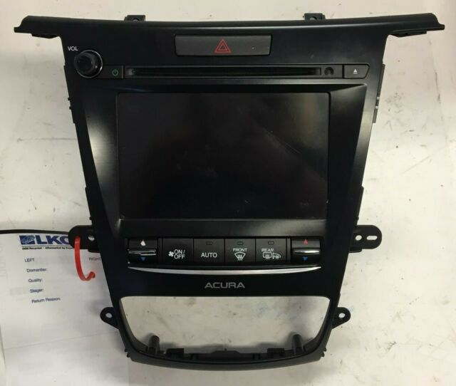 2015 2016 2017 2018 Acura TLX Information Display Radio