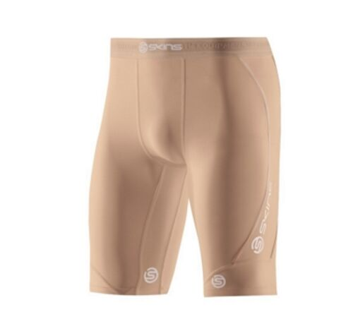 Skins Dnamic Mens Half Tights Flesh Free Delivery Aus Wide
