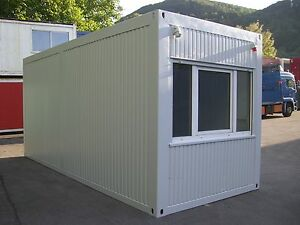 b rocontainer mietcontainer 6m x 2 5m wohncontainer baucontainer container bau ebay. Black Bedroom Furniture Sets. Home Design Ideas