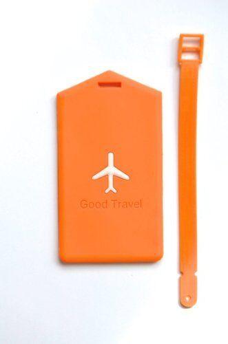 Nov@go label luggage/suitcase label aircraft-orange