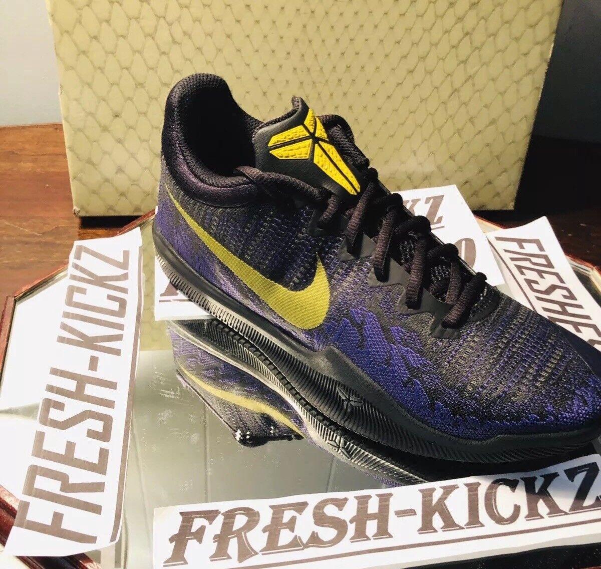 Lakers City Edition Nights Nike Mamba Rage Kobe Bryant Black gold Purple SZ 10.5