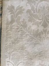 "Vintage1950 Damask Fabric Silk Cotton White Old Stock 3 Yard 4 X45"" Excellent"