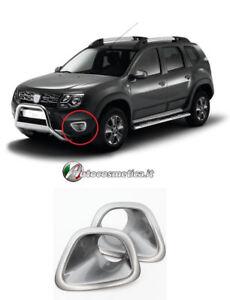 Cornici-Fendinebbia-Paraurto-Anteriore-abs-di-colore-argento-Dacia-Duster-10-17