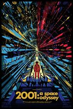 2001: A SPACE ODYSSEY STANLEY KUBRICK 1968 SCI FI FILM POSTER A3 REPRINT