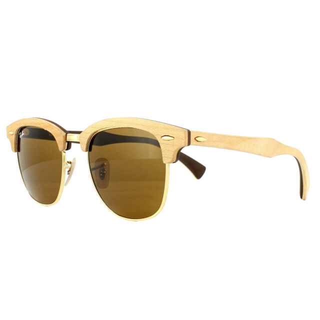 563a2c982afb5 Ray-Ban Sunglasses Clubmaster Wood 3016m 1179 Maple Brown for sale ...