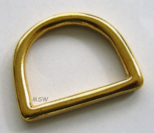 2 x D-Ring 1 1/8 Messing rostfrei nahtlos