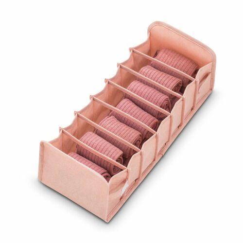 7//11 Grid Foldable Drawer Organizer Divider Closet Storage Box For Bra Underwear