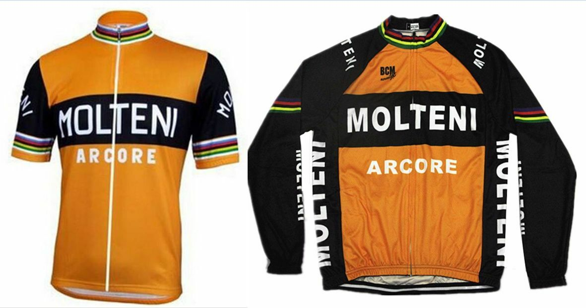 Cycling Molteni Retro Bike Jersey Racing Riding Tri MTB Vintage Team Pro Jersey