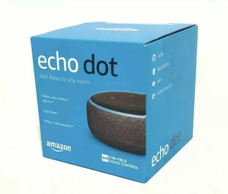 Amazon Echo Dot 3rd Generation w  Alexa Voice Media Device - Charcoal -