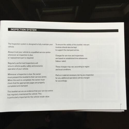 FORD FUSION SERVICE BOOK-STORIA record di manutenzione Portafoglio-NUOVO vuoto