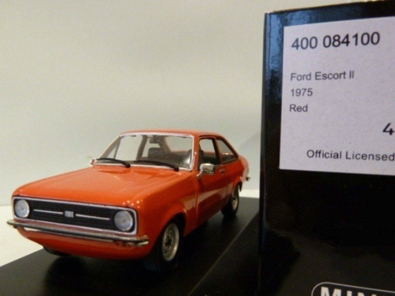 WOW EXTREMELY RARE Ford Escort Escort Escort MkII 1300 L LHD 1975 Red 1 43 Minichamps-MkI RS 477243