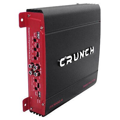 Crunch PX-1000.4 1000 Watt 4 Channel Powerful Car Audio Amplifier Amp PX1000.4