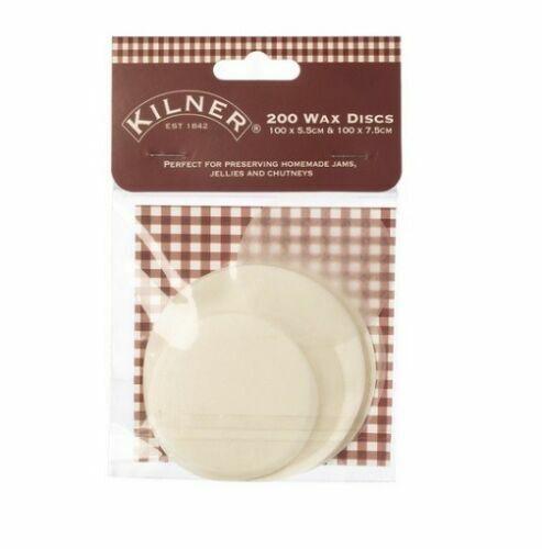 Kilner Paquete de 200 Discos de Cera Tarro de Mermelada 5.5cm /& 7.5cm Tarro de Alimentos tapas de papel 711