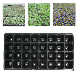 32-Cell-Seedling-Starter-Trays-Seed-Germination-Garden-Plant-Propagation-H-BAC