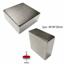 Super Strong N52 High Quality Earth Neo Magnets Neodymium Block 40x40x20mm Hot