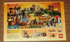 Seltene Werbung LEGO Legoland Castle 6085 Schwarze Drachenburg 6074 Schloß 1989