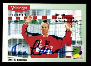 Tine Lindemann Autogrammkarte Original Signiert Handball + A 155061