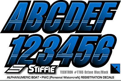 STIFFIE Techtron TT08-SS Sea-Doo Spark Registration Numbers Decals WHITE BLACK