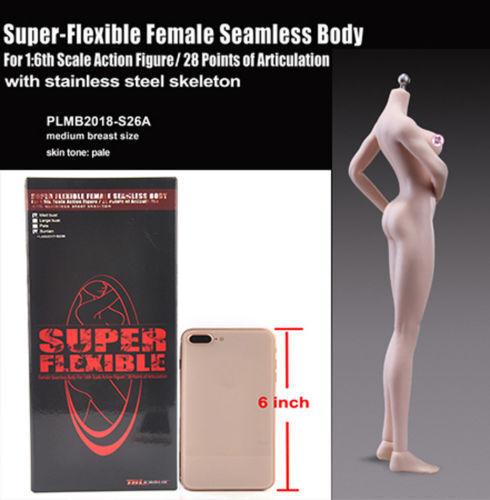 1 6 TBLeague Pale Skin Female Figure Flexible Seamless Body PLMB2018-S26A