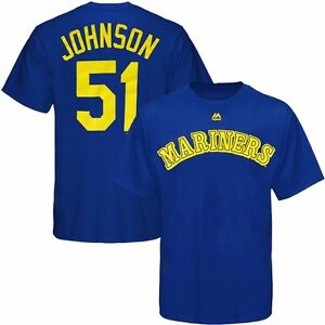 Image is loading Randy-Johnson-MAJESTIC-Seattle-Mariners-Cooperstown-Blue- Jersey- 5f36e3ec95c2