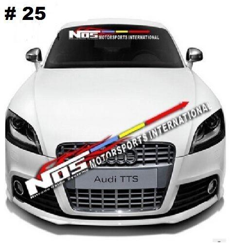 NOS Car Front Windshield Window Clear Exterior Vinyl Banner Decal Sticker