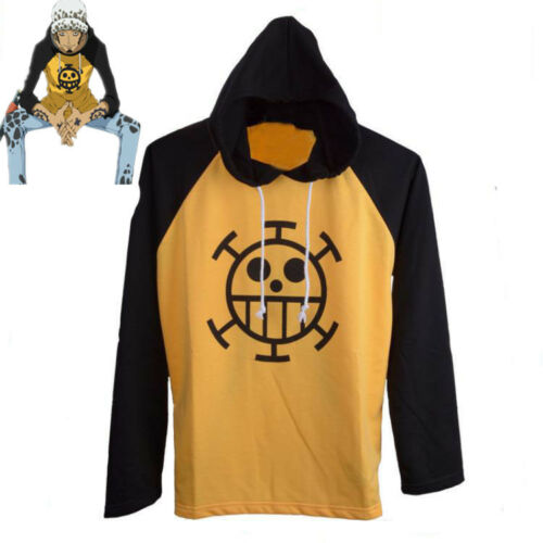 Anime One Piece Sweatshirt Cosplay Hoodie Trafalgar Law Cos Cotton Pullover Coat