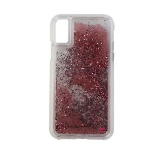 buy popular dcd5d 89abb Details about Case-Mate Waterfall Series Case for Apple iPhone X 10 -  Clear/Pink Glitter