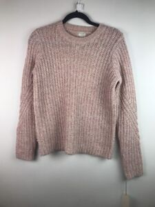 238-NEW-A-New-Day-Women-039-s-Chunky-Cable-Pullover-Pink-Size-Small