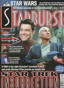Starburst-244-Dec-1998-Star-Trek-Insurrection-Blade-Seven-Years-unread-MBX110