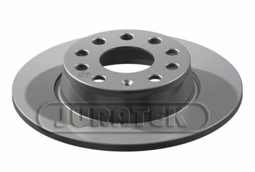 JURATEK PAIR OF REAR BRAKE DISCS FOR VW TOURAN MPV 1.4 TSI ECOFUEL