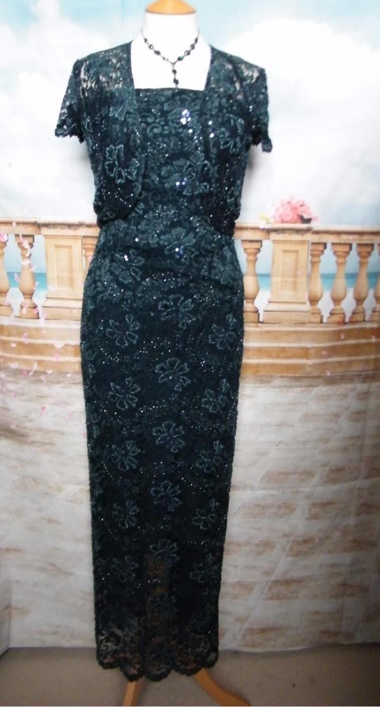PHASE EIGHT Dress/Ballgown &Bolero 8/10 Beaded Lace Evening/Gatsby/Downton 1920s