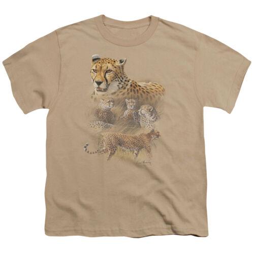 Wild Wings Wildlife CHEETAHS Licensed BOYS /& GIRLS T-Shirt S-XL