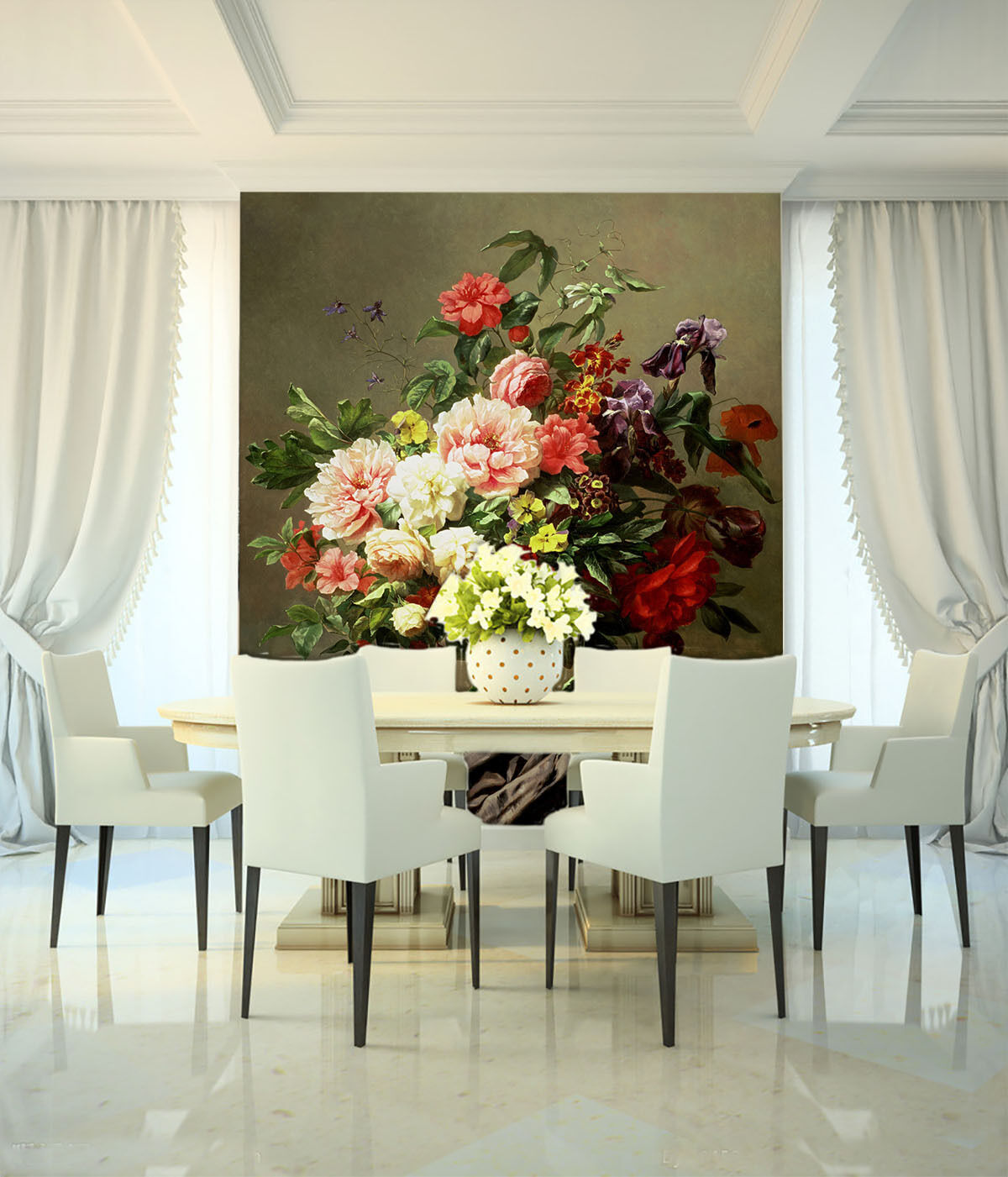 3D Flowers Bloom 421 Paper Wall Print Wall Decal Wall Deco Indoor Murals