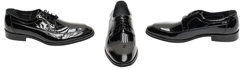 Lackleder Herren Herren Lackleder Schuhe Muga Gr.44 Schwarz 6636b6