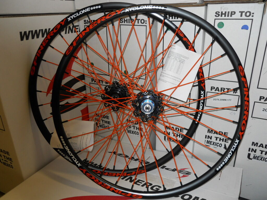 New Spinergy Xyclone Disc 26  colors PBO Spokes Wheel Set For Mountain Bike MTB
