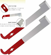 2 Pcs Bee J Hook Hive Tool Stainless Steel Beekeepers Frame Lifter Equipment Red