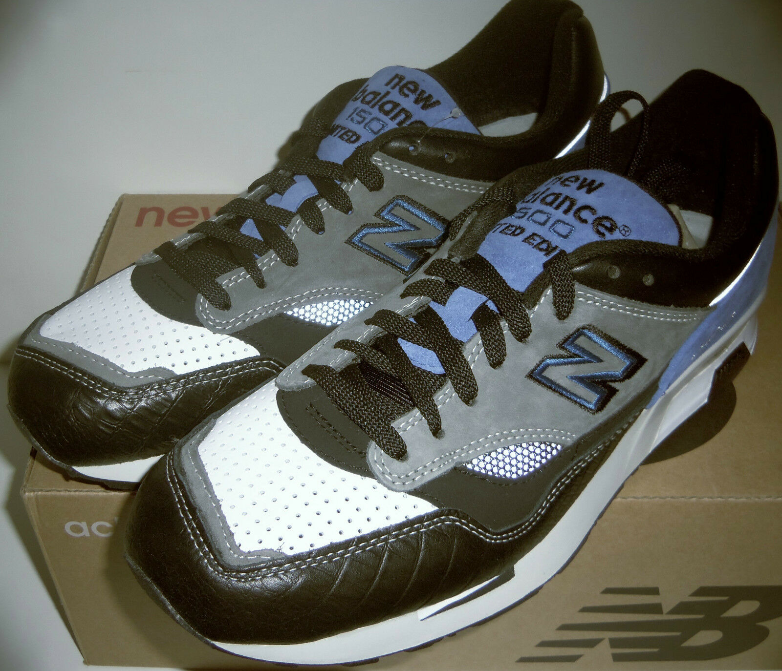 NEW BALANCE 1500 BLACK/GRAY LTD limited edition RUNNING SHOES MENS 10