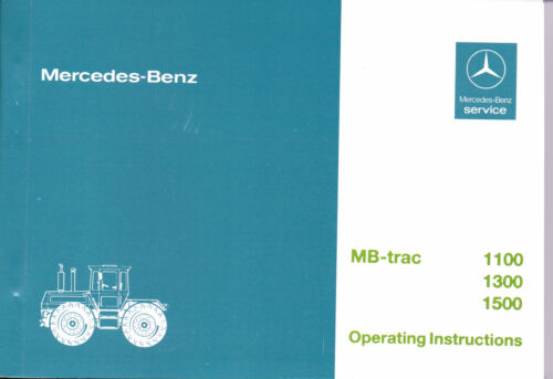 NEW MB-trac 443 1100 1300 1500 Factory Operating Instruction Manual