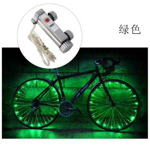 20 LED Bicycle Bike Cycling Rim Wheel Lights On Off Flash Spoke Light String Top